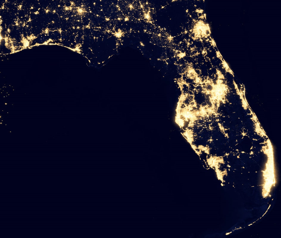 Dark Sites - Satellite maps florida